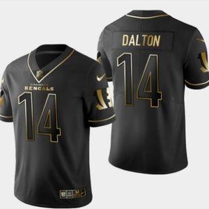 Bengals #14 Andy Dalton Golden Edition Jersey